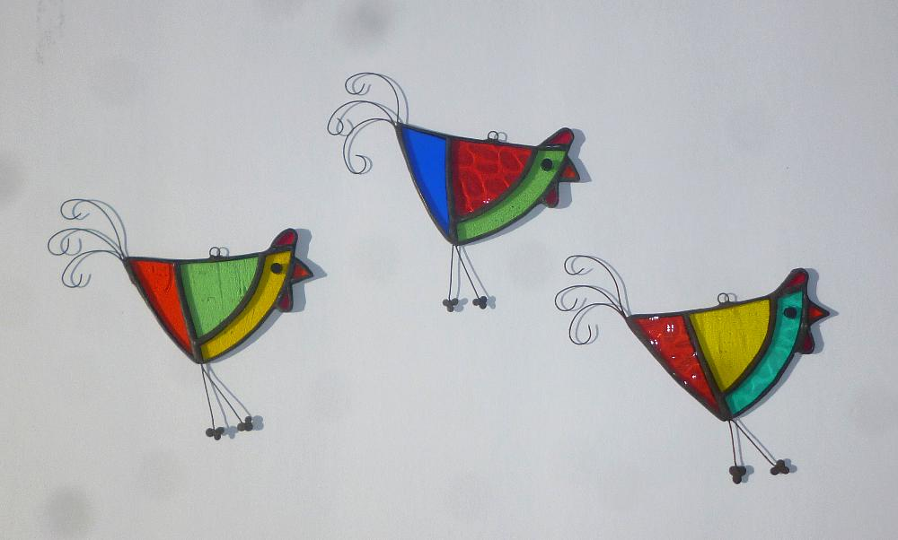 Belize Stained Glass Funky Chicken