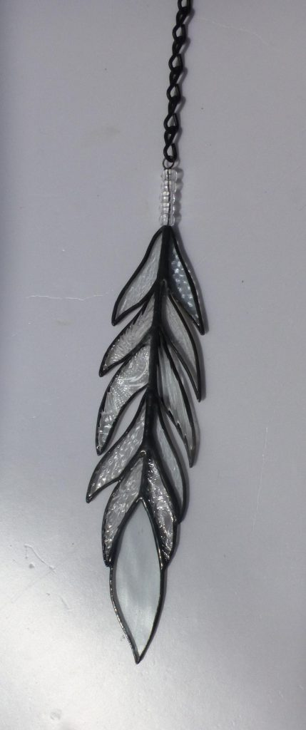 Belize Stained Glass Crystal Feather