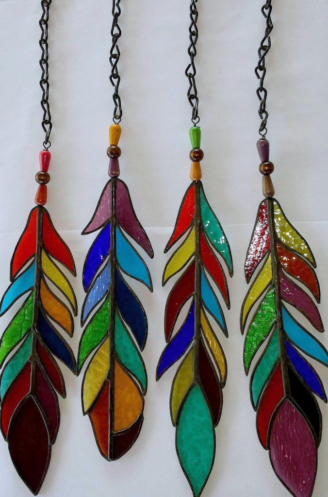 Belize Stained Glass Feathers