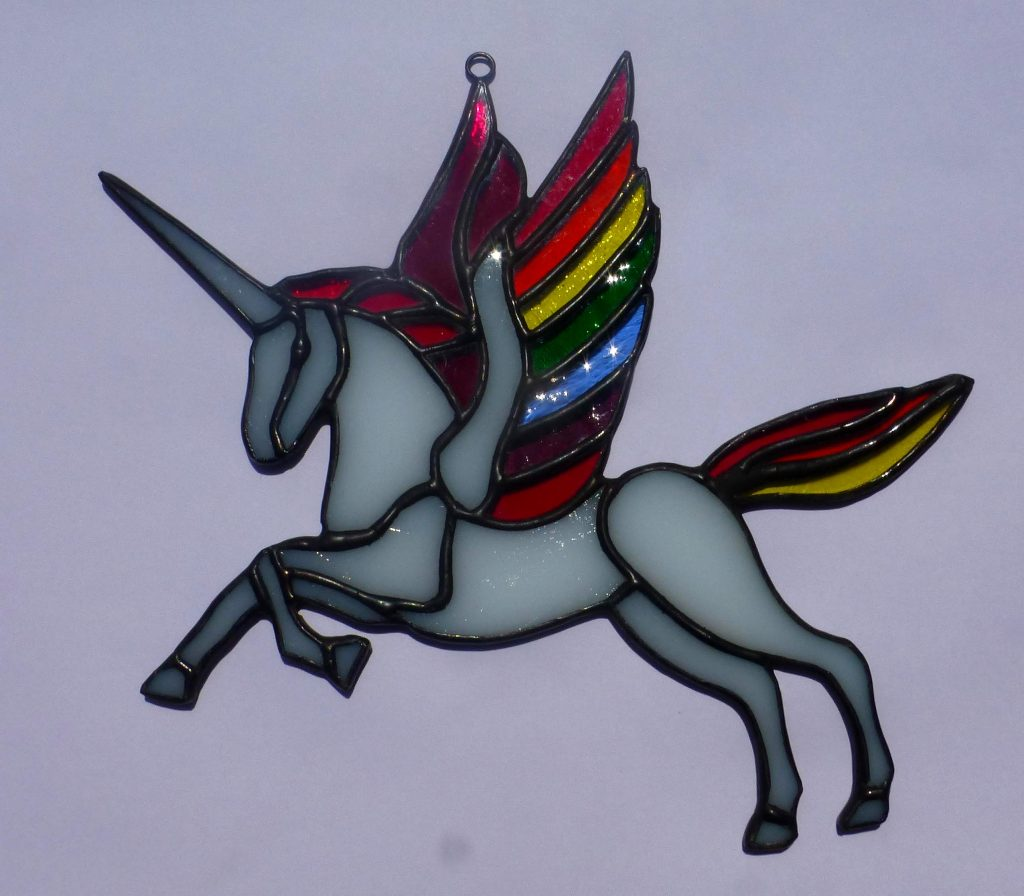 Belize Stained Glass Unicorn